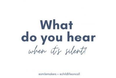 What do you hear in the silence?