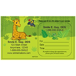 Peel 'N Stick Appointment Cards