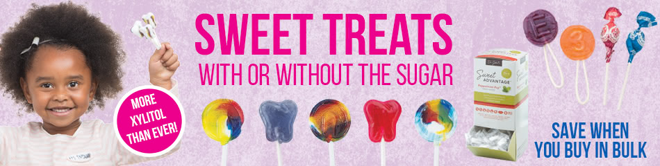 Lollipops and Sugarfree Candy banner