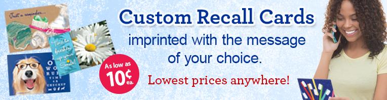 Custom Recall Cards