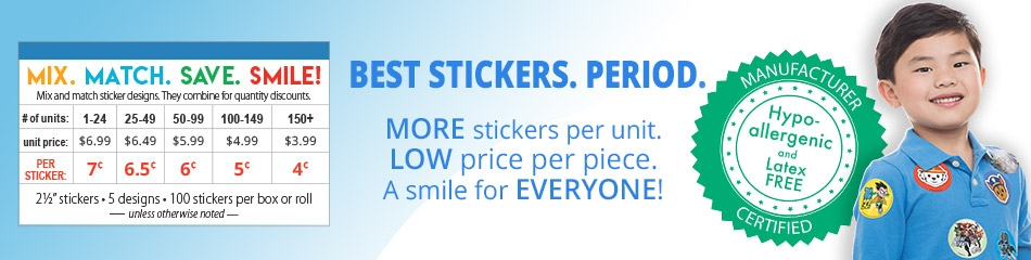 Superhero Stickers banner