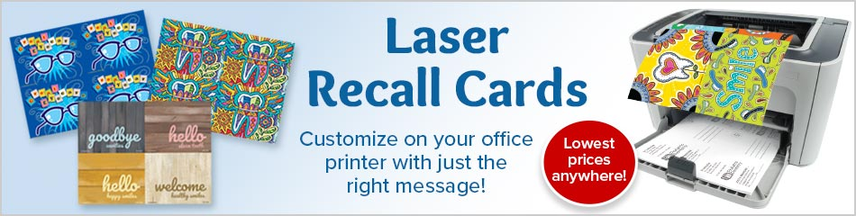 4-Up Assorted Laser Recall Cards