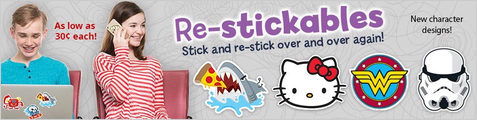 Re-stickables
