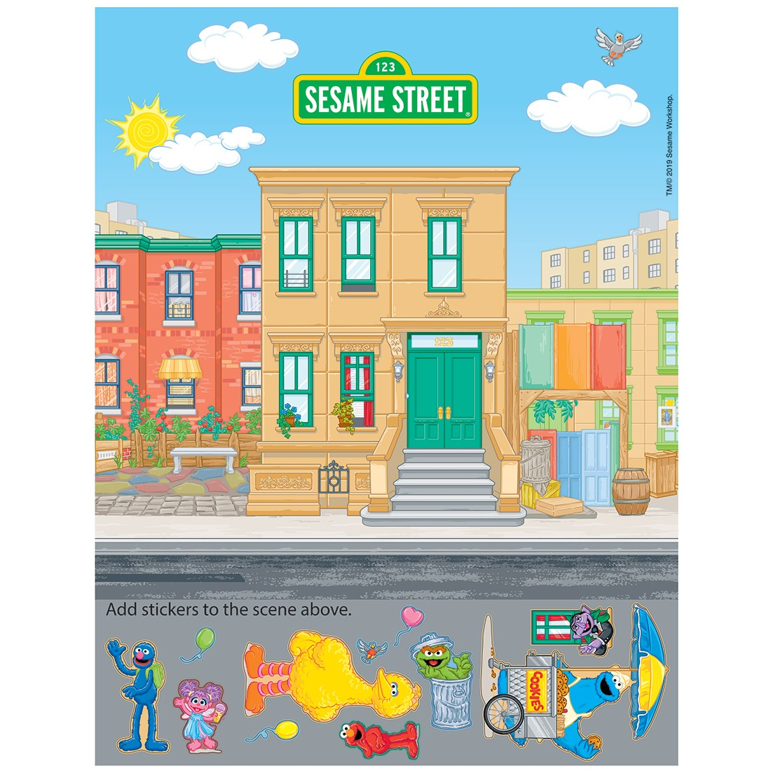 Sesame Street Sticker Activity Sheets [image]
