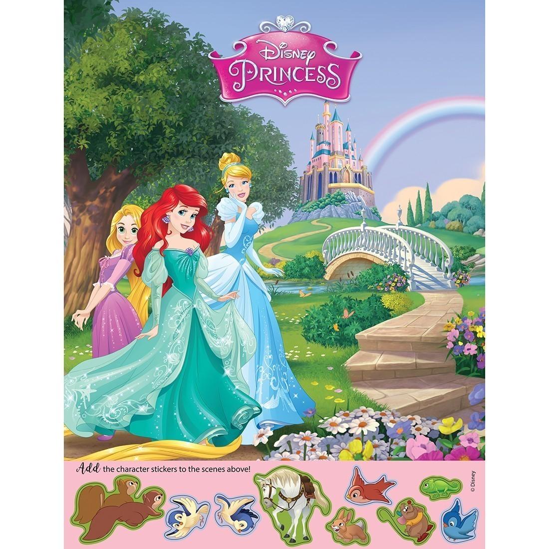 Disney Princess Sticker Activity Sheets [image]