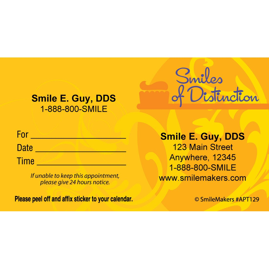 Custom Smiles of Distinction Appointment Cards [image]