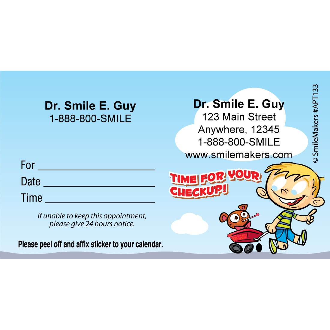 custom kid check up appointment cards image slider image 0 - Appointment Cards