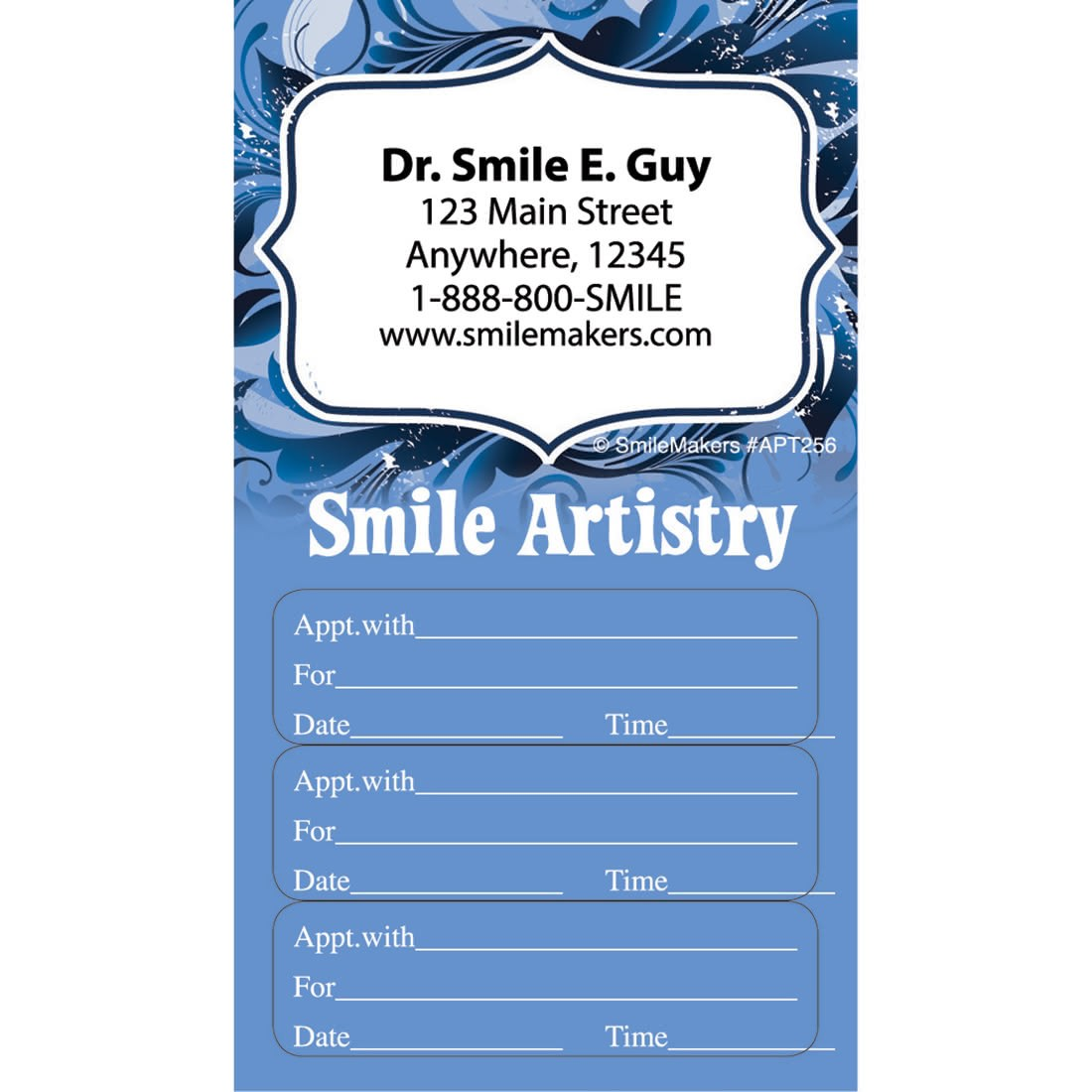 Custom Smile Artistry Three Sticker Appointment Cards [image]