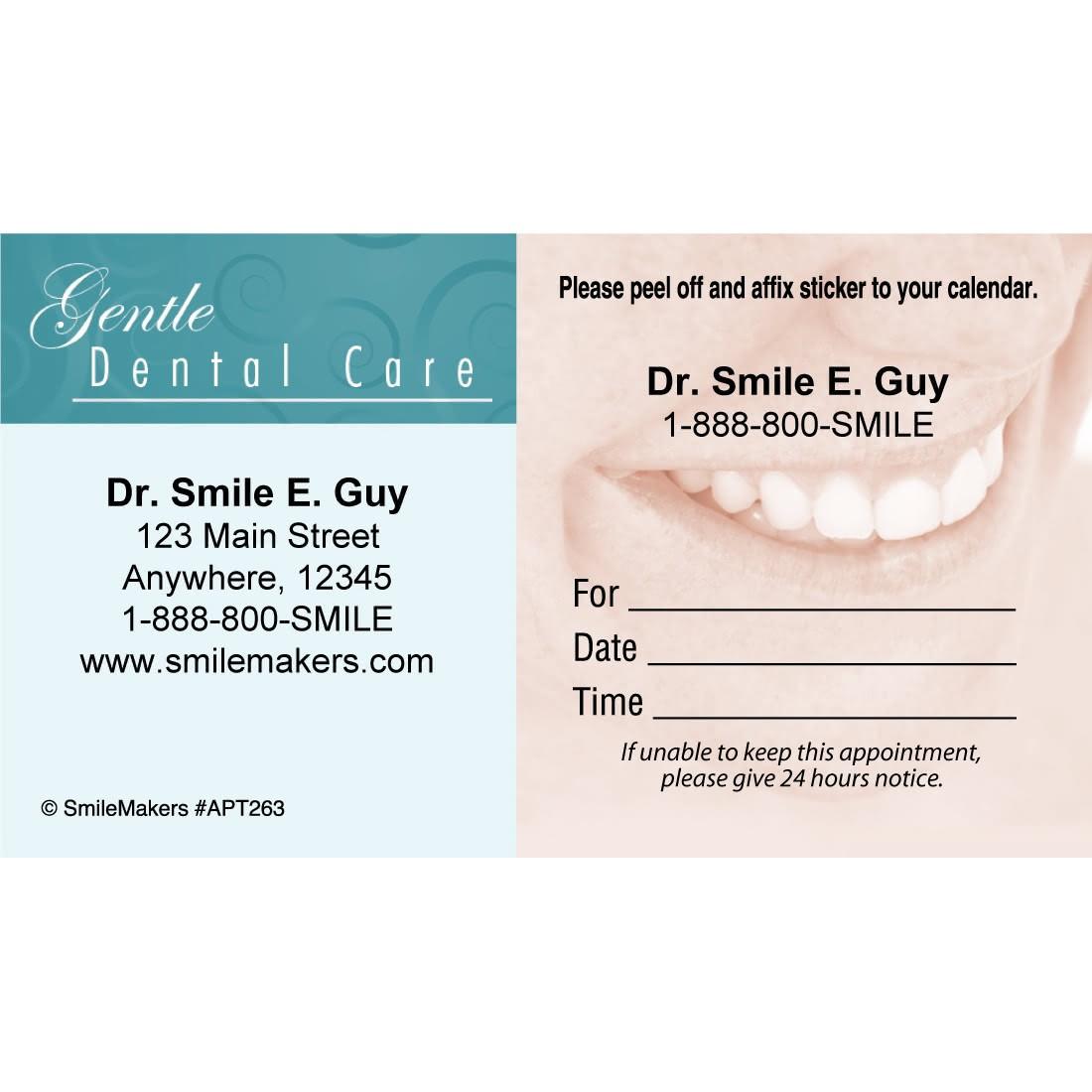 custom gentle dental smile sticker appointment cards image slider image 0