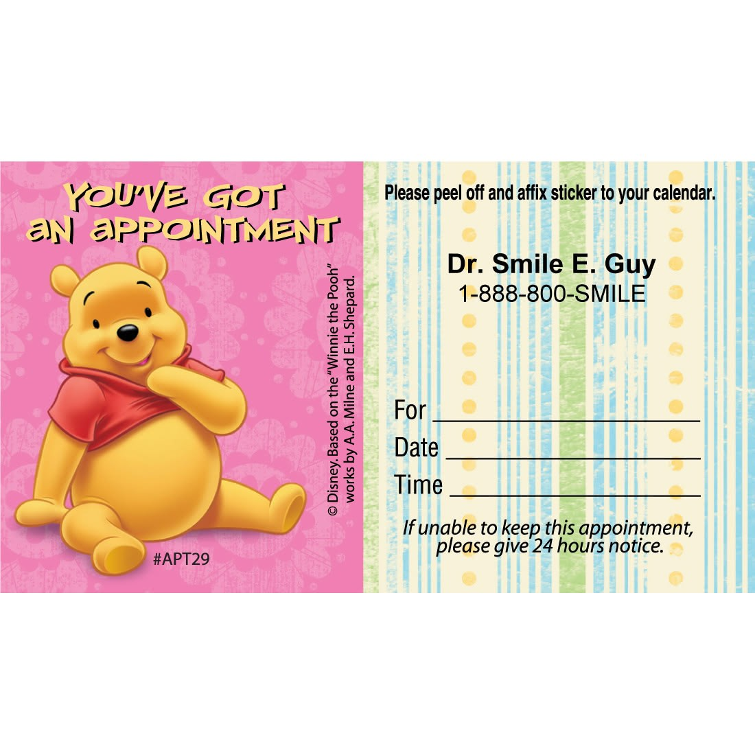 Custom Pooh You've Got an Appointment Cards [image]