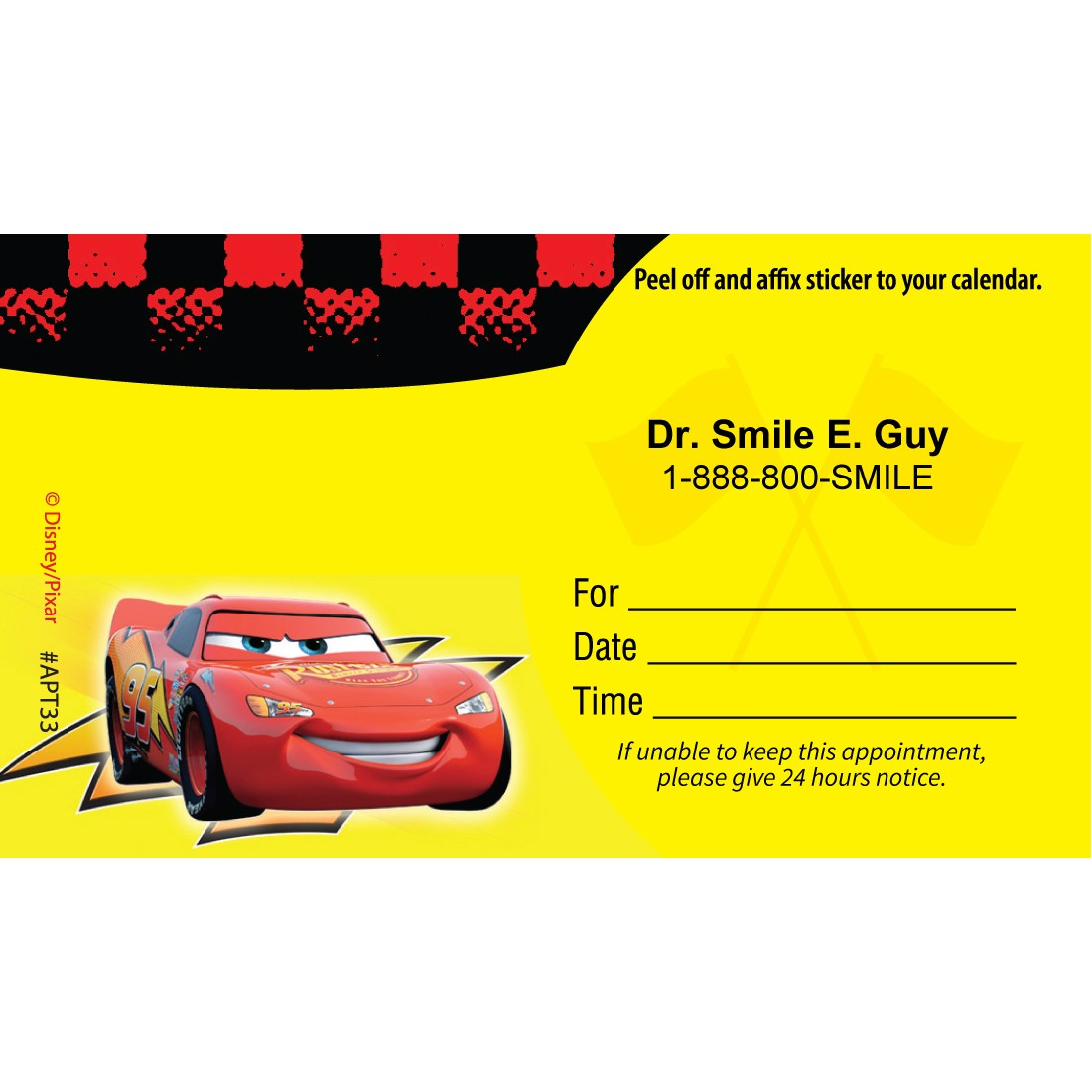 Custom Disney Cars Tune-Up Appointment Cards [image]