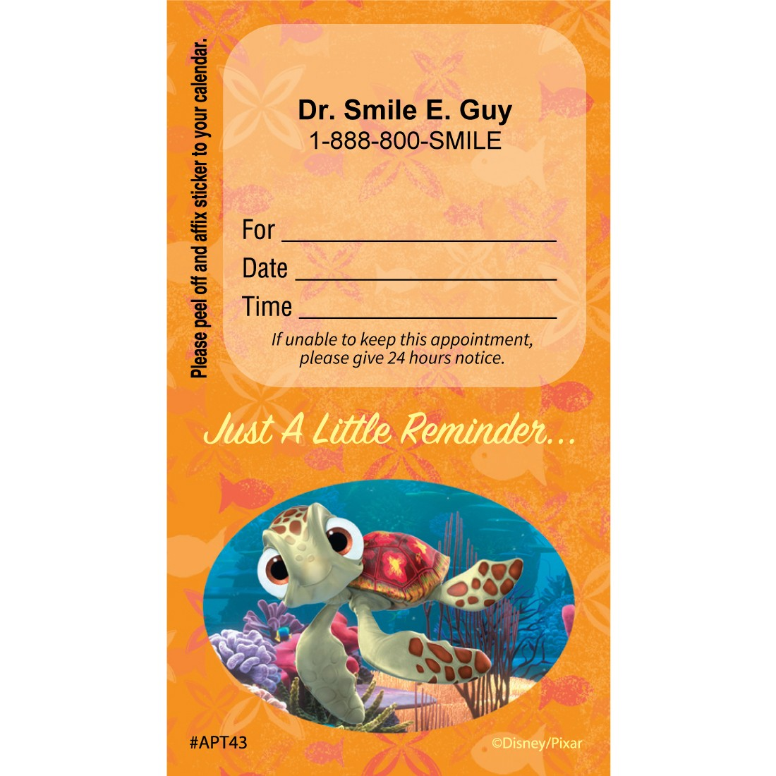 Custom Finding Nemo Reminder Appointment Cards [image]