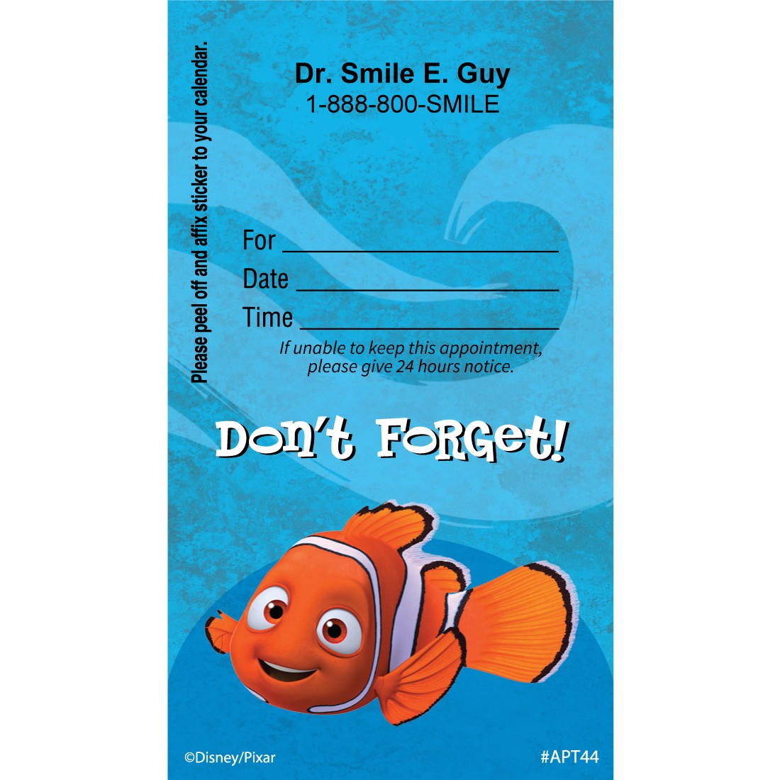 Custom Nemo Cute Dont Forget Appointment Cards [image]