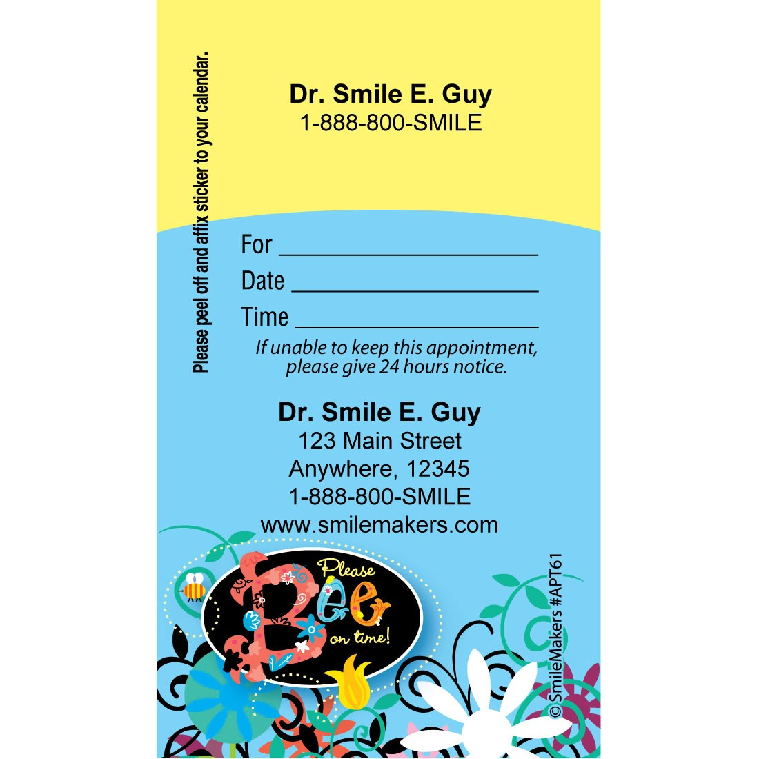 Custom Bee On Time Appointment Cards [image]