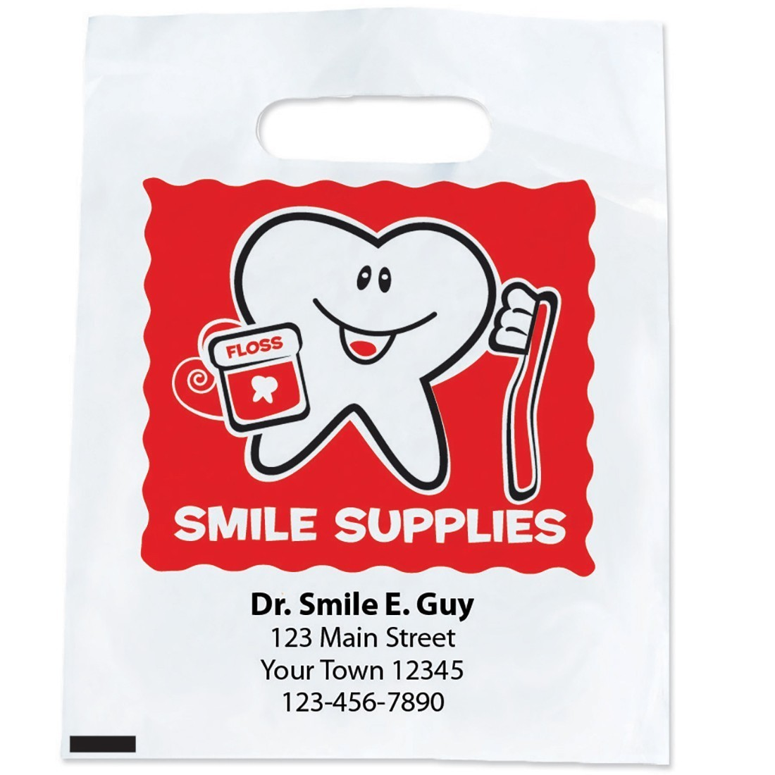 Custom Happy Tooth Smile Supply Bags [image]