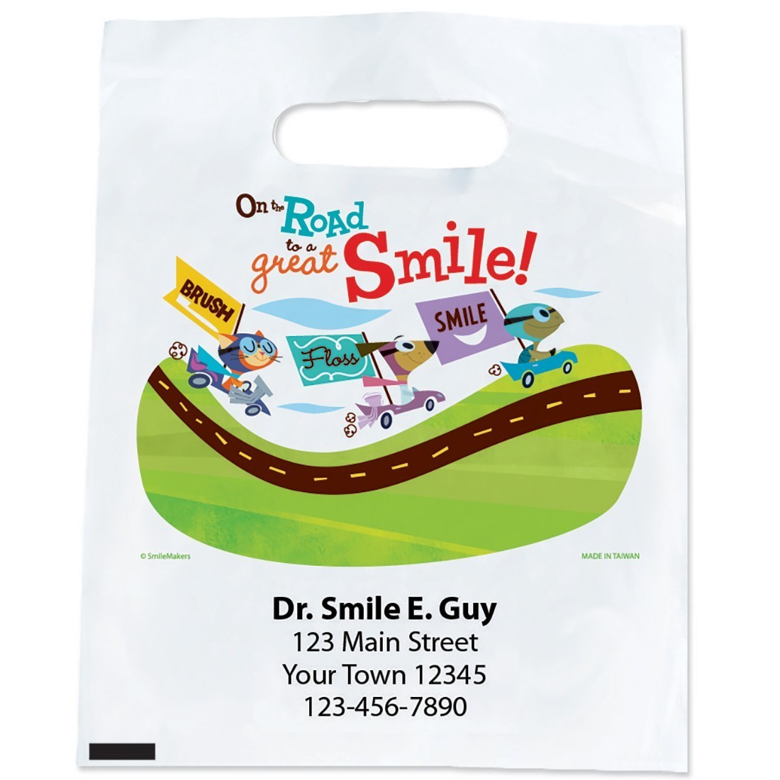 Custom Road to Great Smiles Bags [image]
