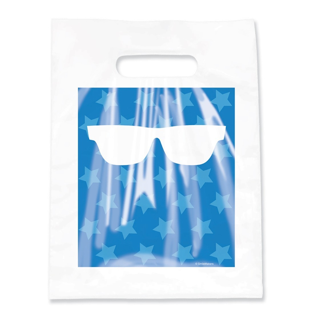 Clear Blue Stars & Glasses Bags                    [image]