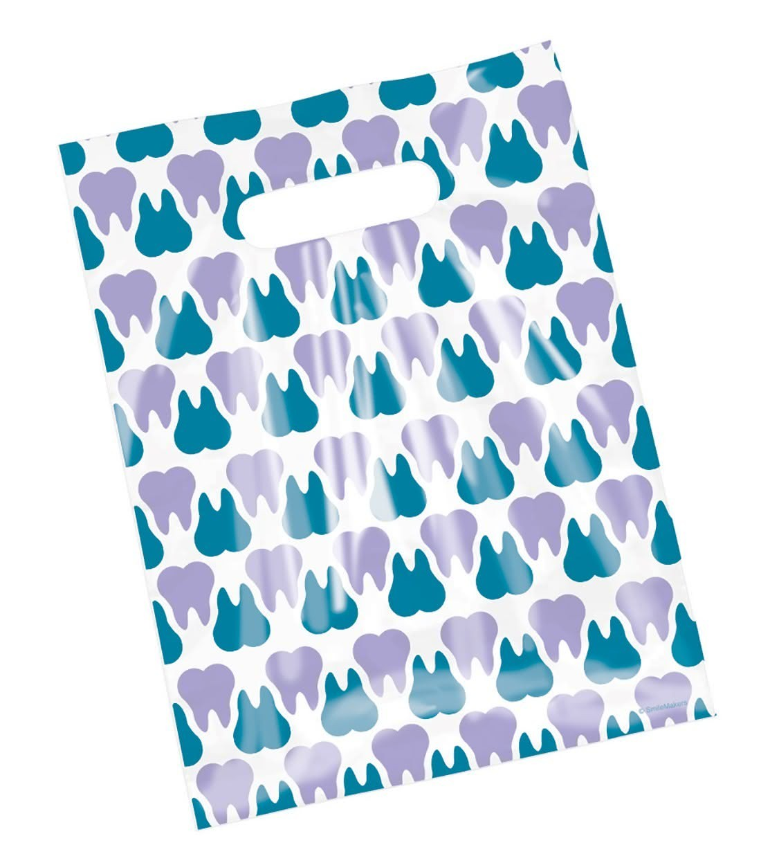 Purple & Teal Scatter Tooth Bags  [image]