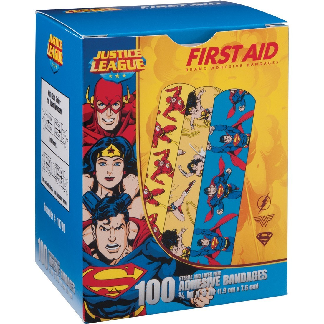 First Aid Wonder Woman, Superman, Flash Bandages [image]