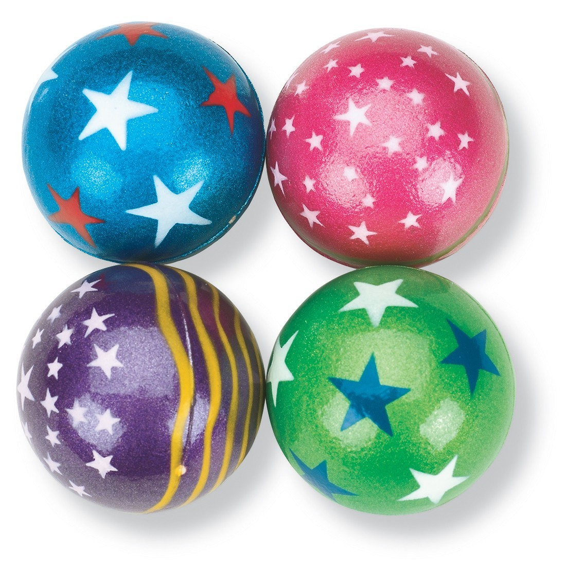 55mm Giant Metallic Star Bouncing Balls [image]