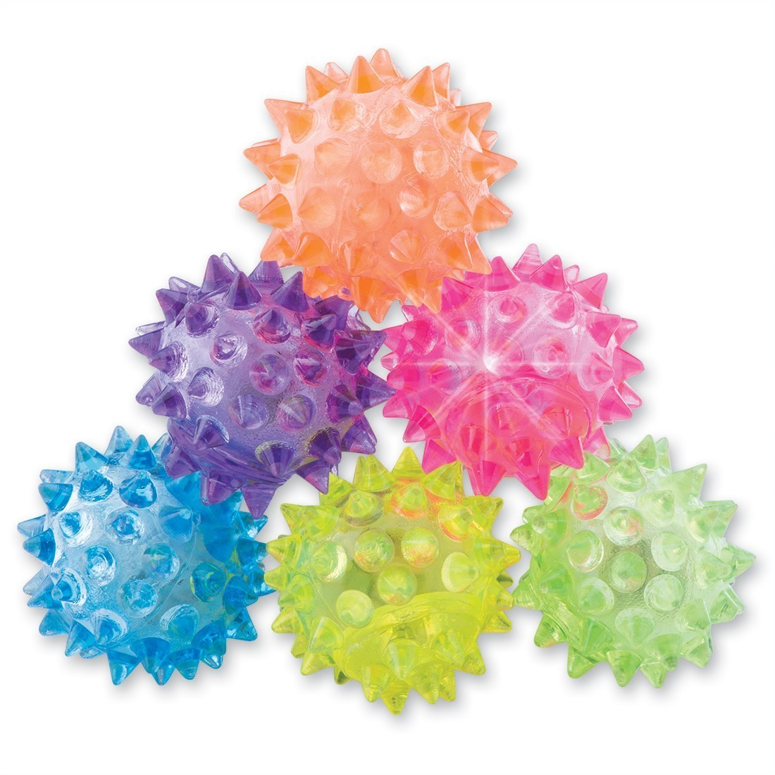 35mm Light Up Spike Bouncing Balls [image]