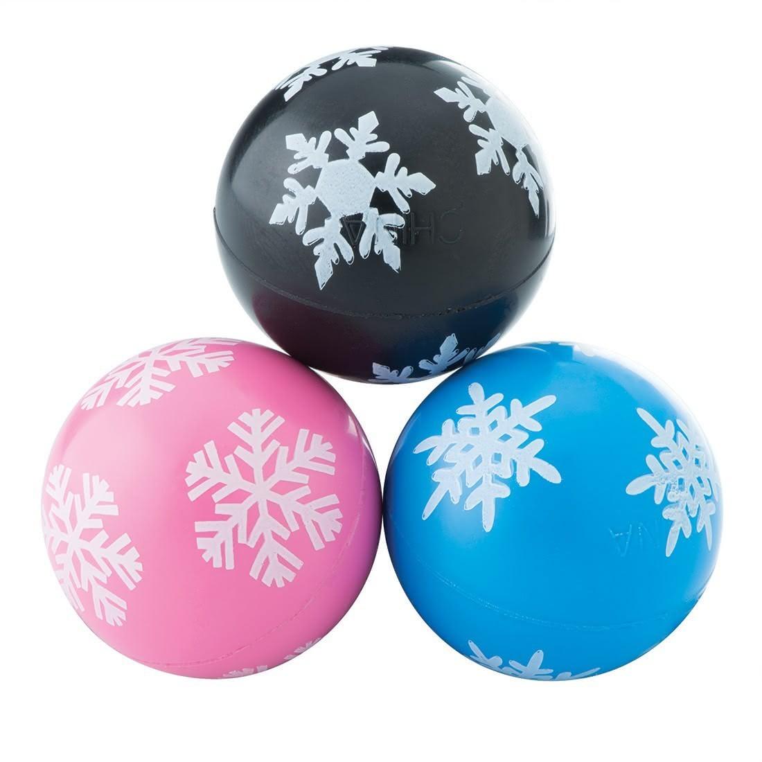30mm Snowflake Bouncing Balls  [image]