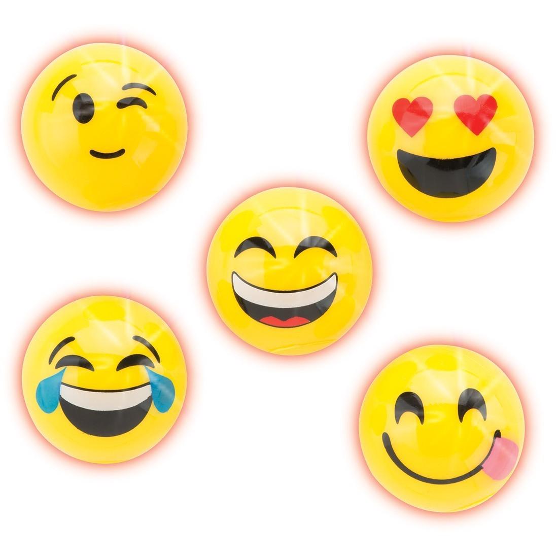 Emoji Flashing Rubber Balls  [image]