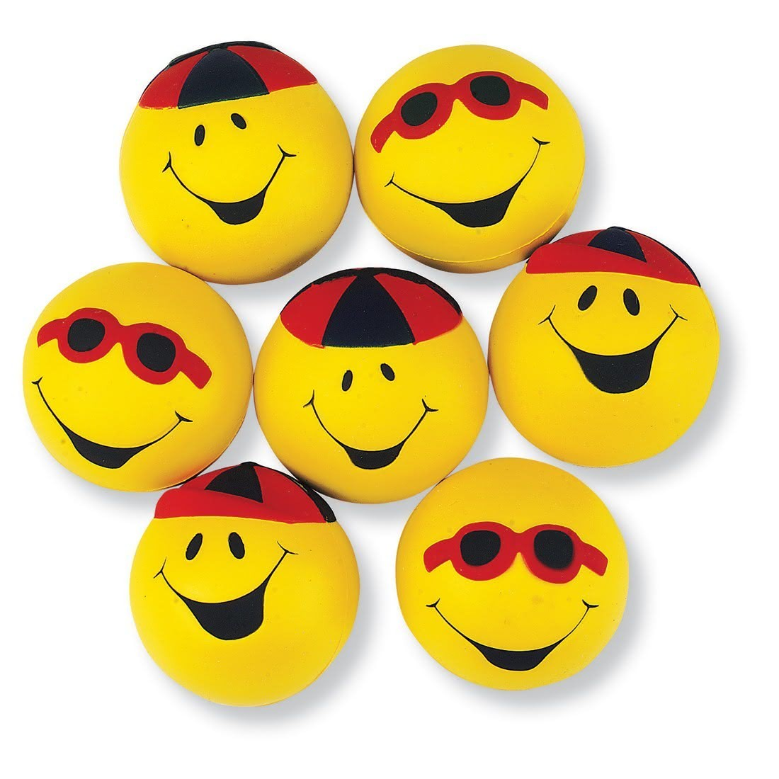 Goofy Smiley Face Stress Balls [image]
