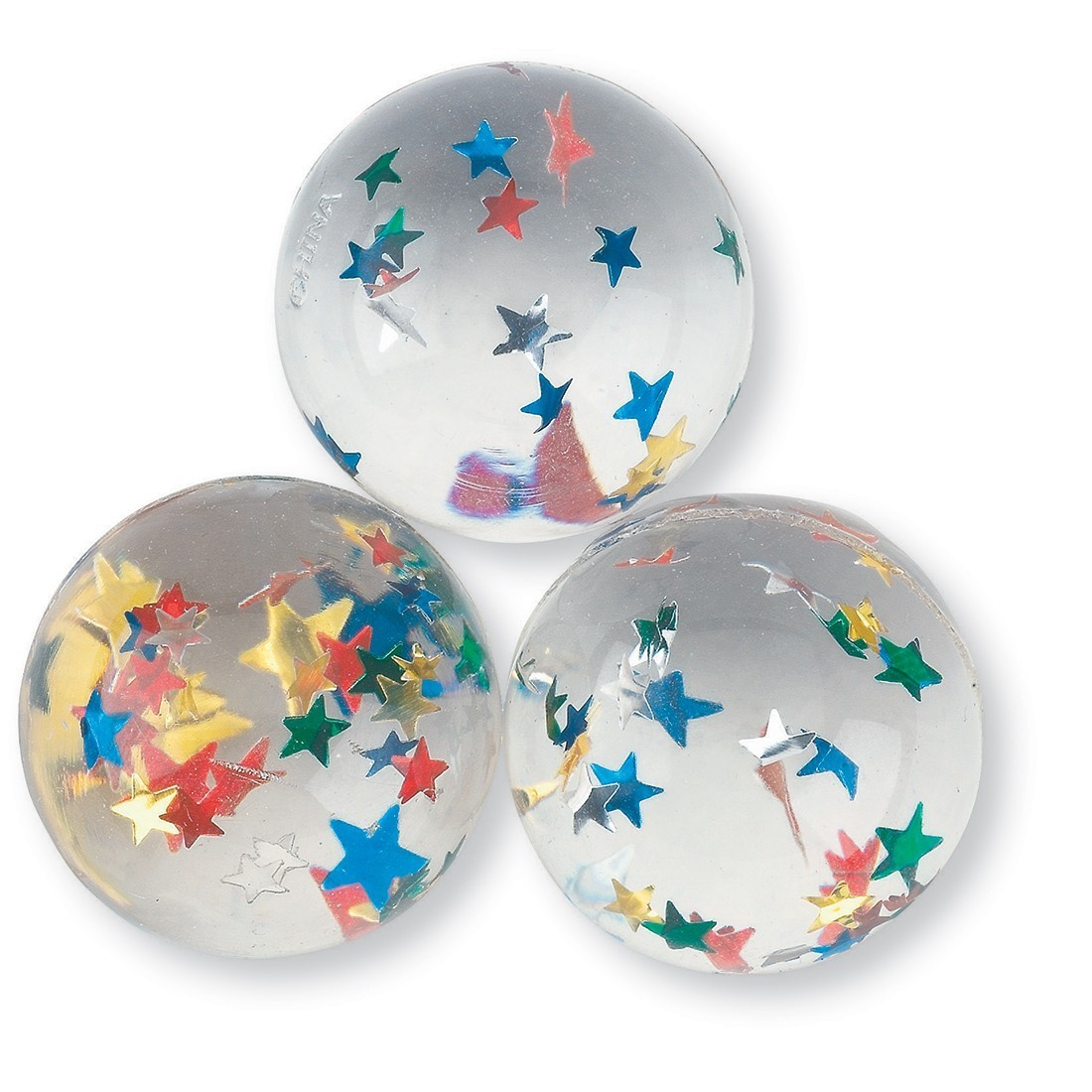 33mm Star Confetti Bouncing Balls [image]