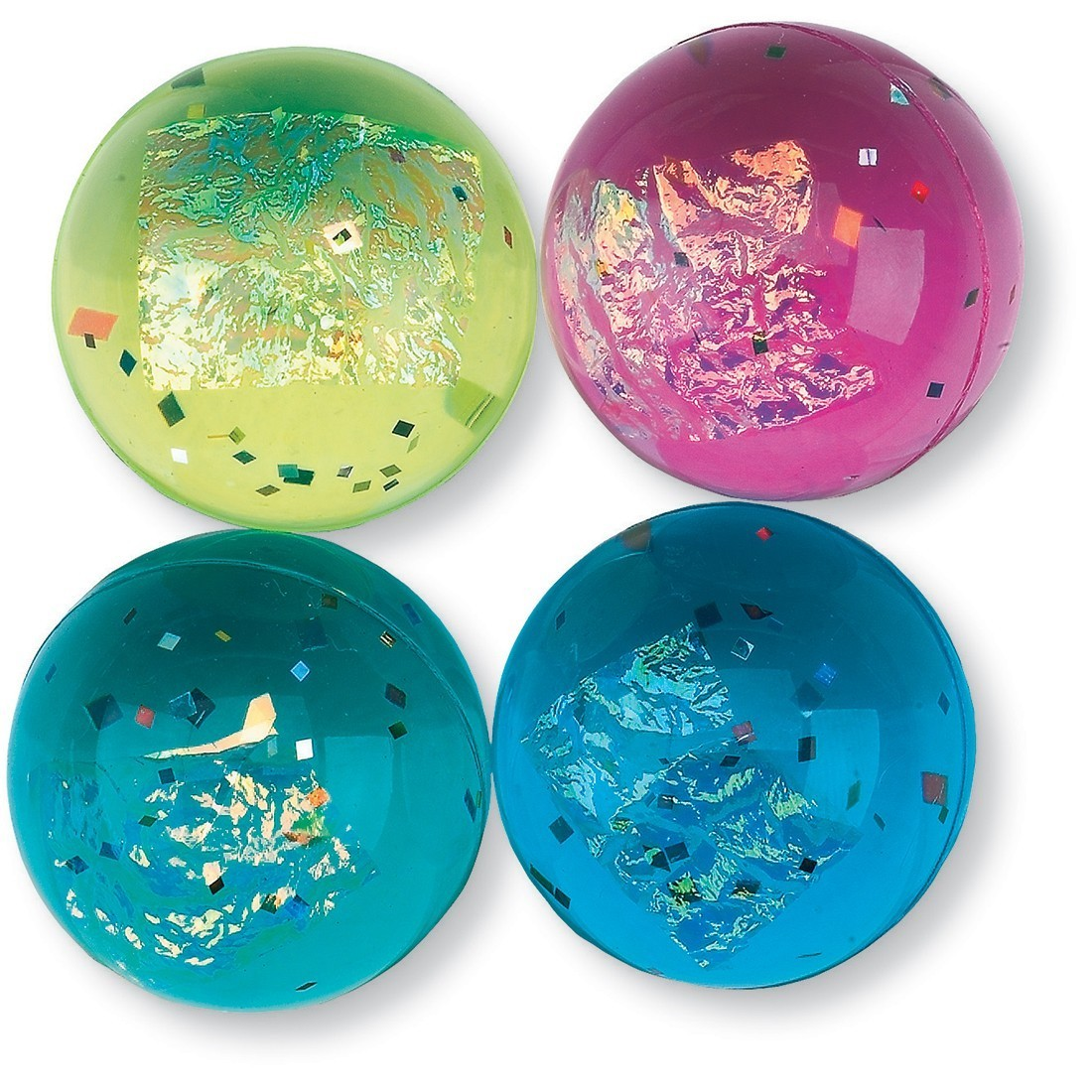 33mm Fire and Ice Glitter Bouncing Balls [image]