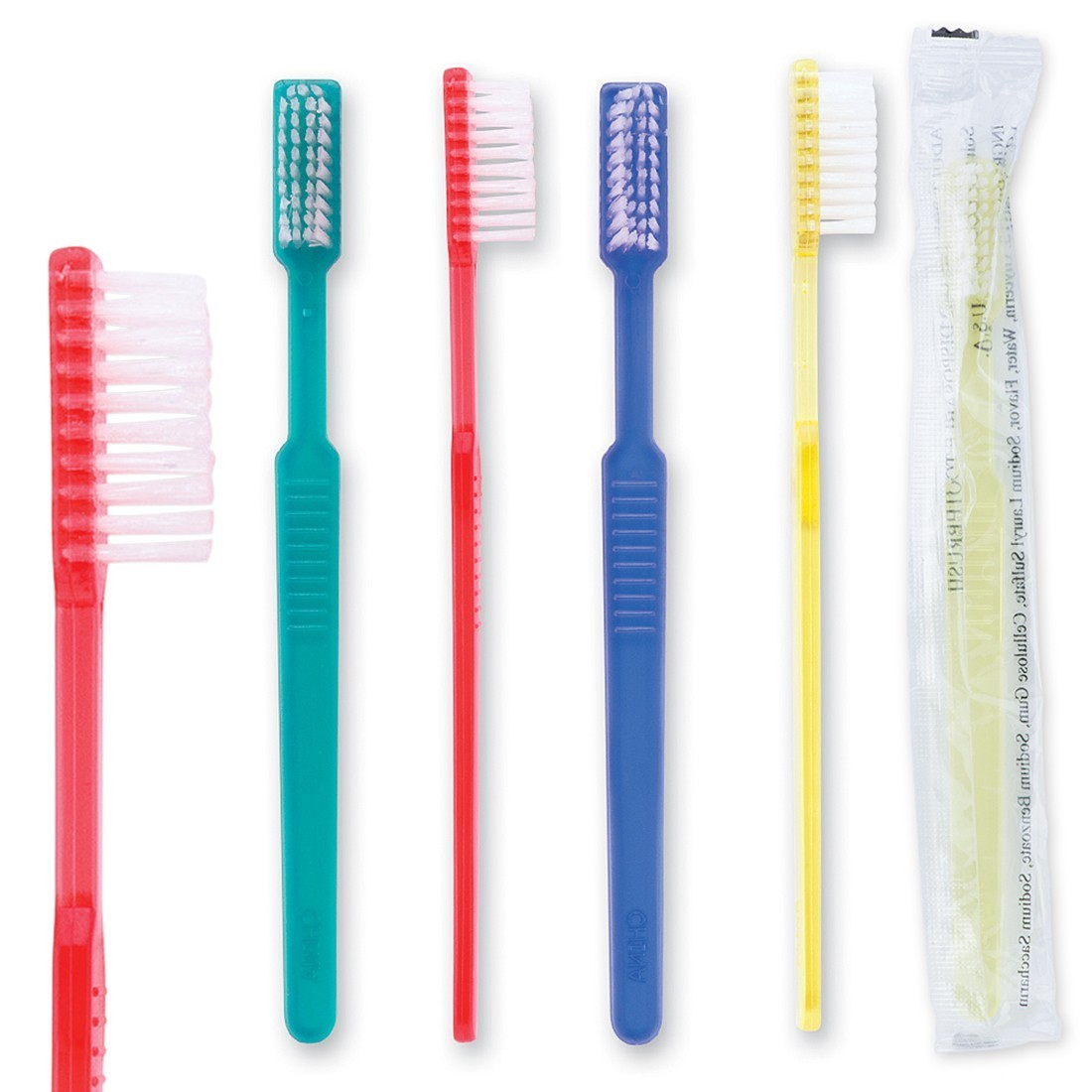 OraLine Adult Pre-Pasted Disposable Toothbrushes [image]