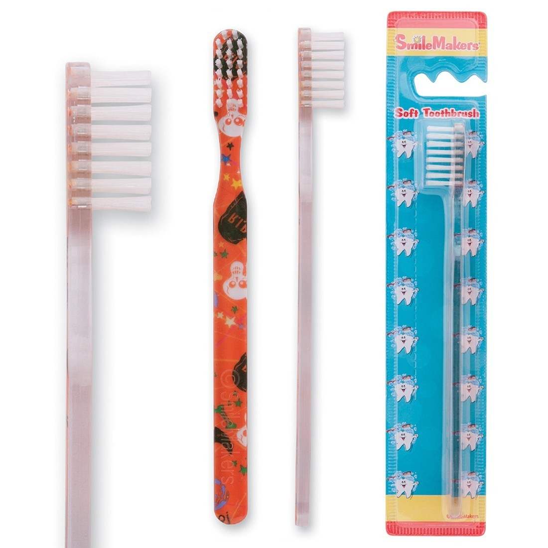 SmileCare Youth Halloween Scatter Print Toothbrush [image]