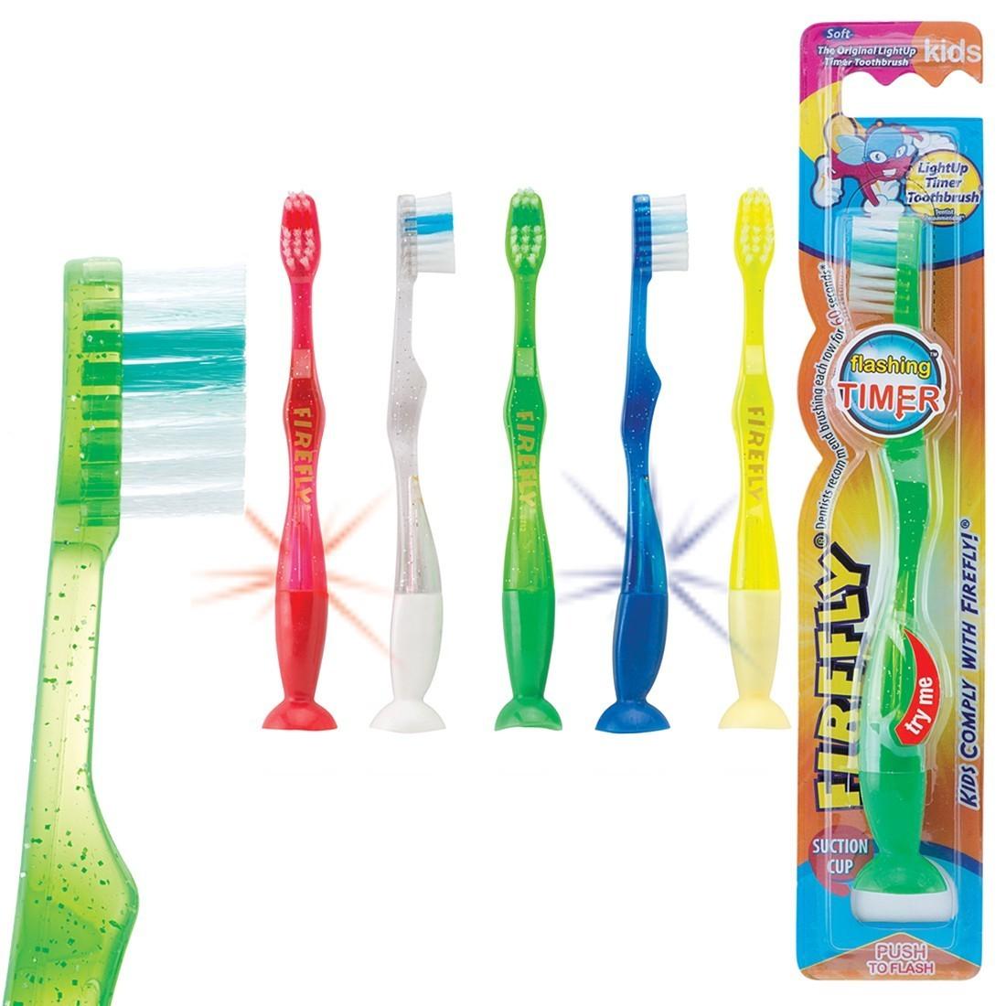 Firefly Youth Flashing Suction Toothbrushes [image]