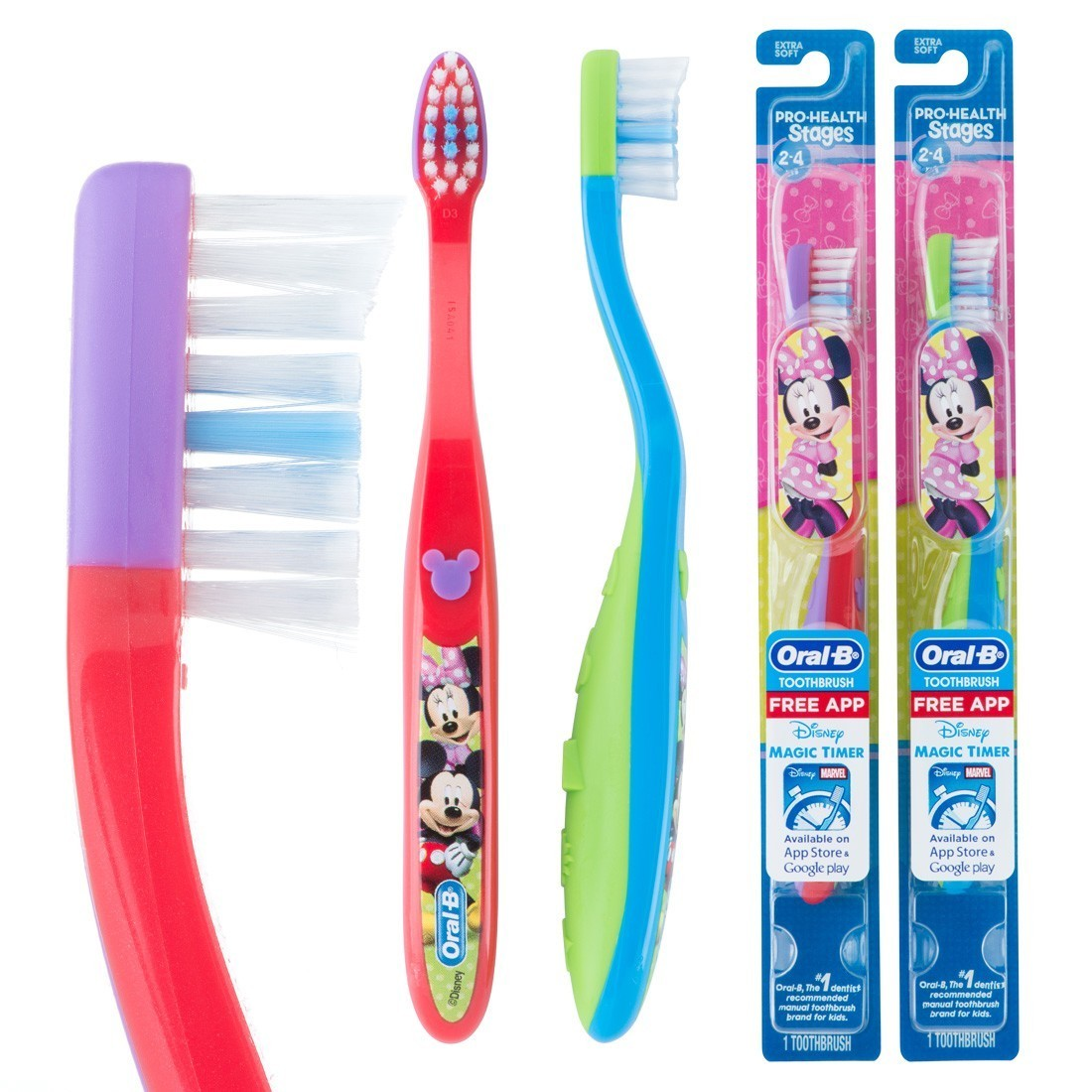 Oral-B Pro-Health Stages 2 Mickey Mouse Toothbrushes [image]