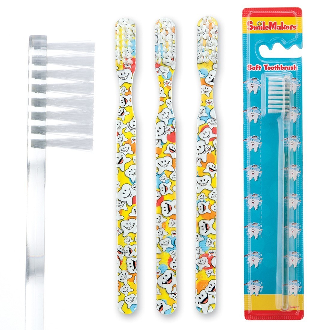 SmileCare Youth Happy Tooth Scatter Toothbrush [image]