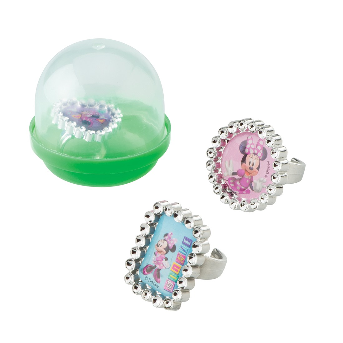 """Minnie Mouse Jewel Rings in 2"""" Capsules [image]"""