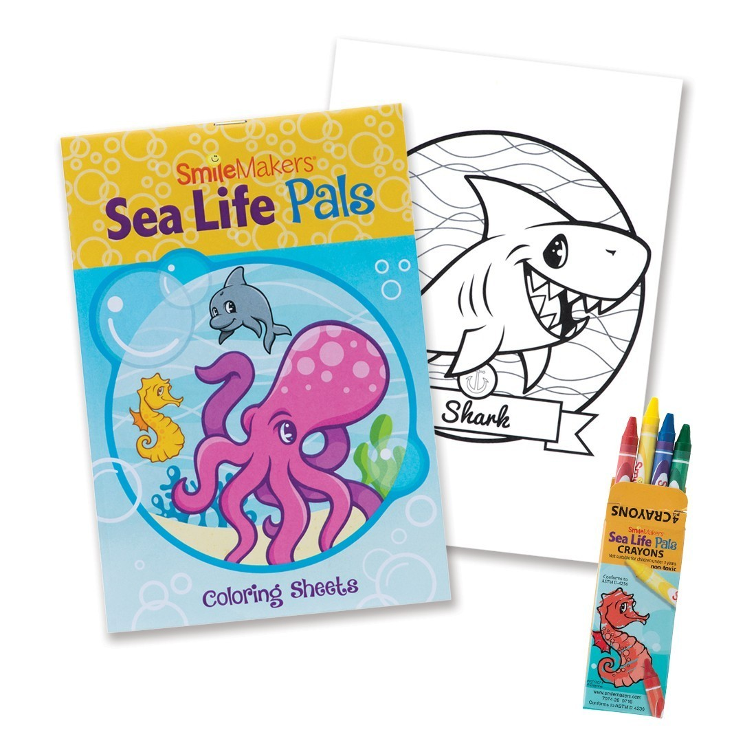 SmileMakers Sea Life Pals Coloring Value Pack [image]