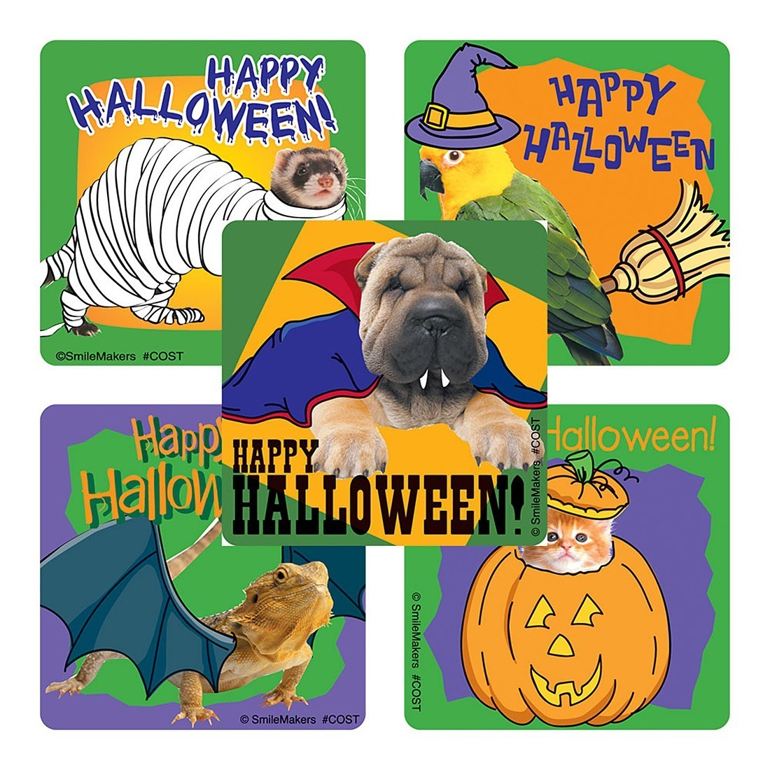 Animals In Costumes Stickers                       [image]