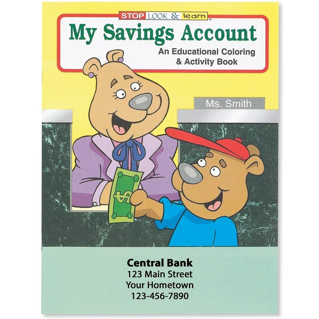Custom Savings Account Coloring Book [image]