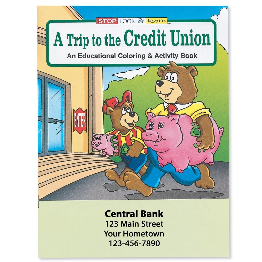 Custom Trip to Credit Union Coloring Books [image]