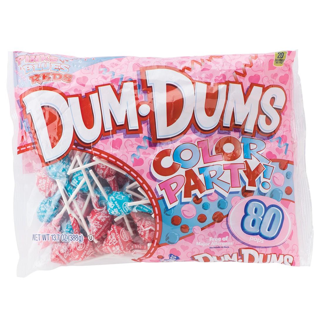 Pink, Red & Blue DumDums Lollipops [image]