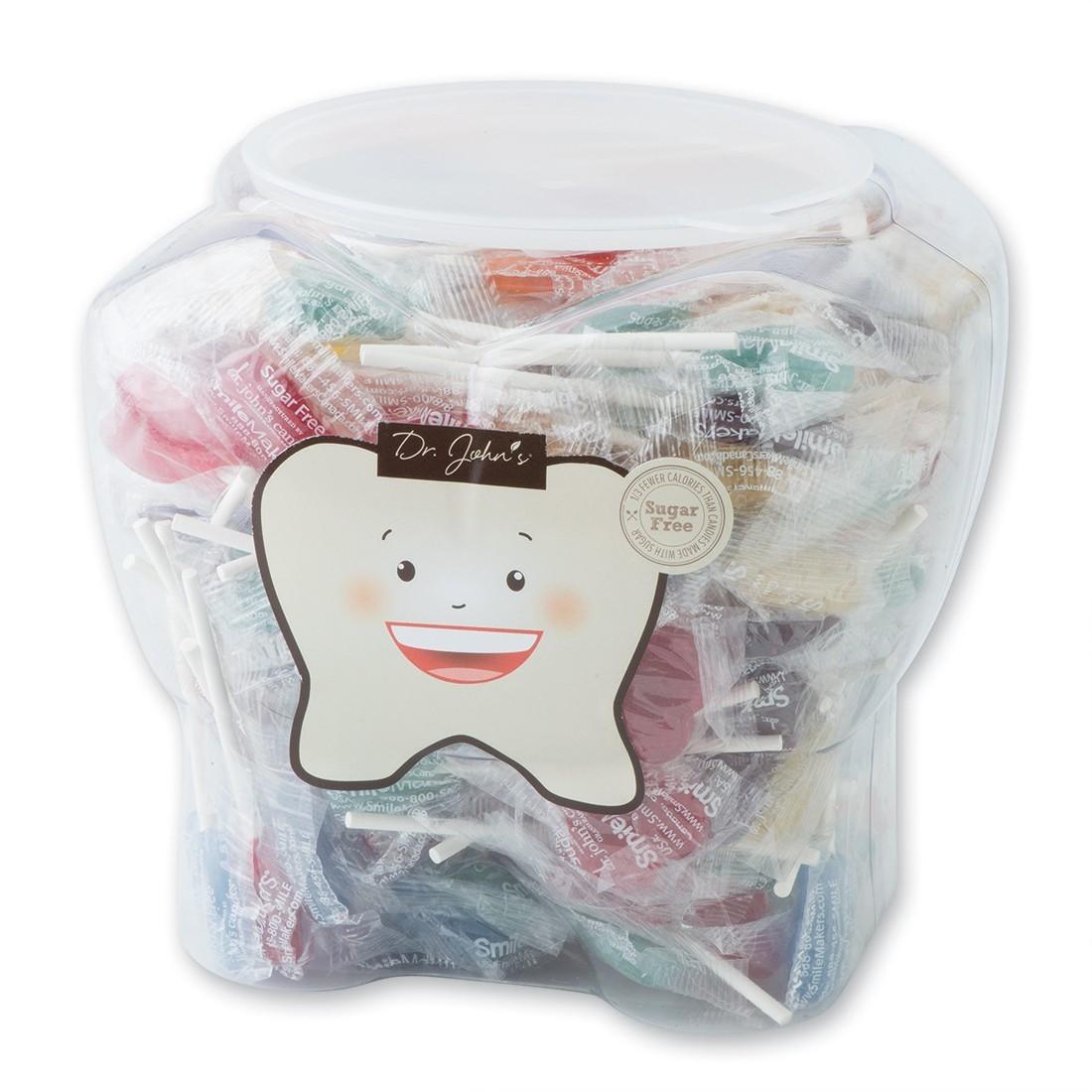 Dr. John's® Sugar Free Lollipops in Tooth Jar [image]