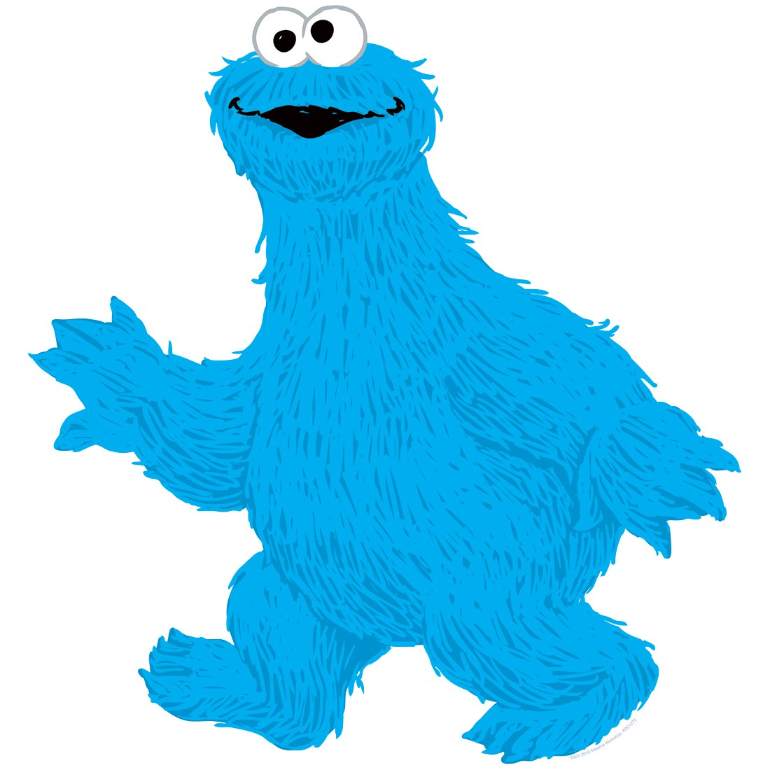 Cookie Monster Sesame Street Wall Cling [image]