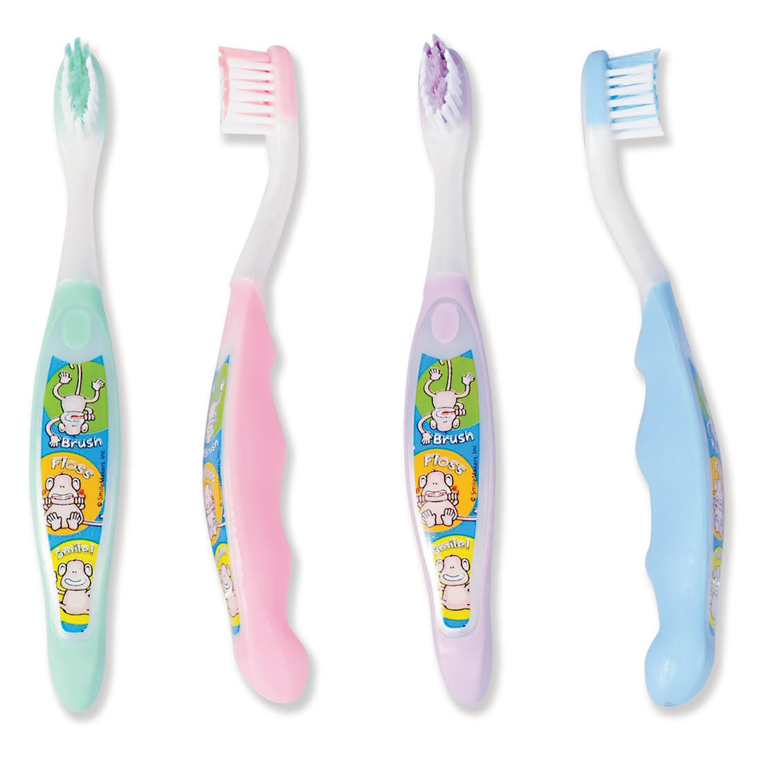 SmileCare Toddler Brush, Floss, Smile Monkey Toothbrushes [image]