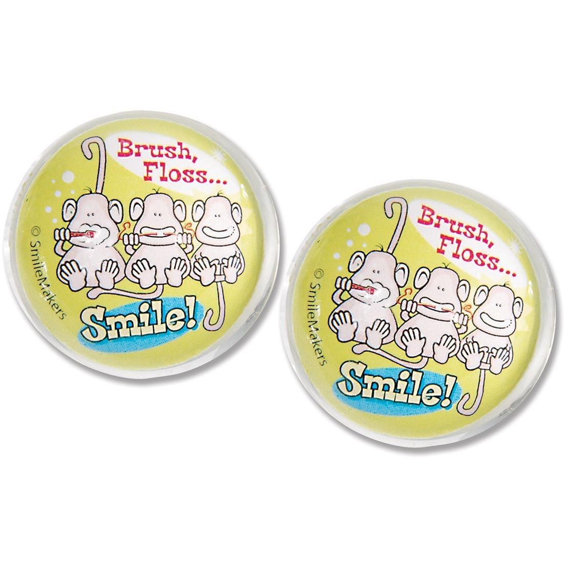 29mm Brush, Floss, Smile Monkey Bouncing Balls [image]