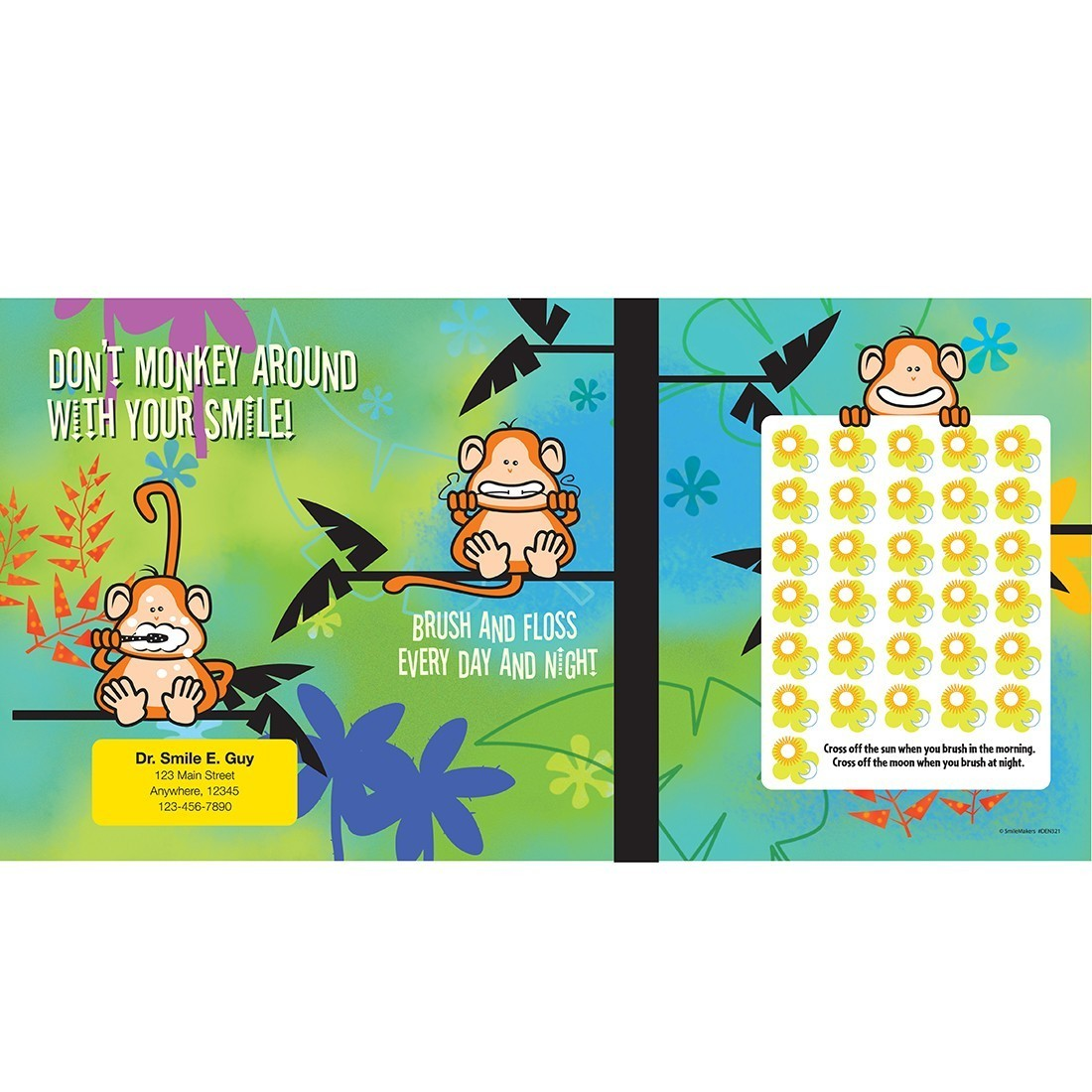 3 Monkeys Brushing Chart [image]