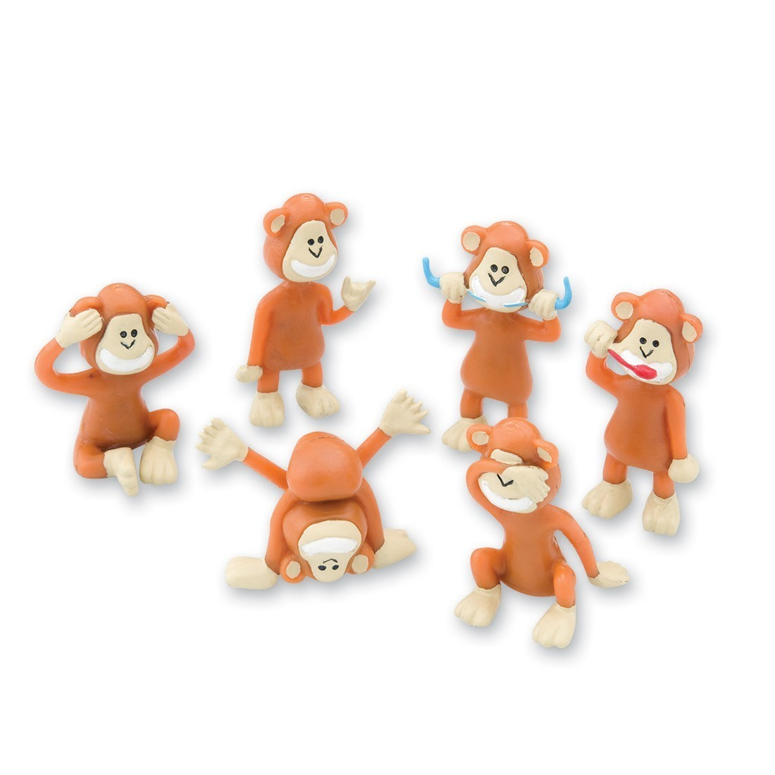 Brush, Floss, Smile Monkey Figurines [image]
