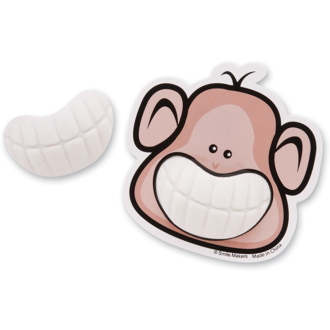 Brush, Floss, Smile Monkeys Toothy Grin Erasers [image]