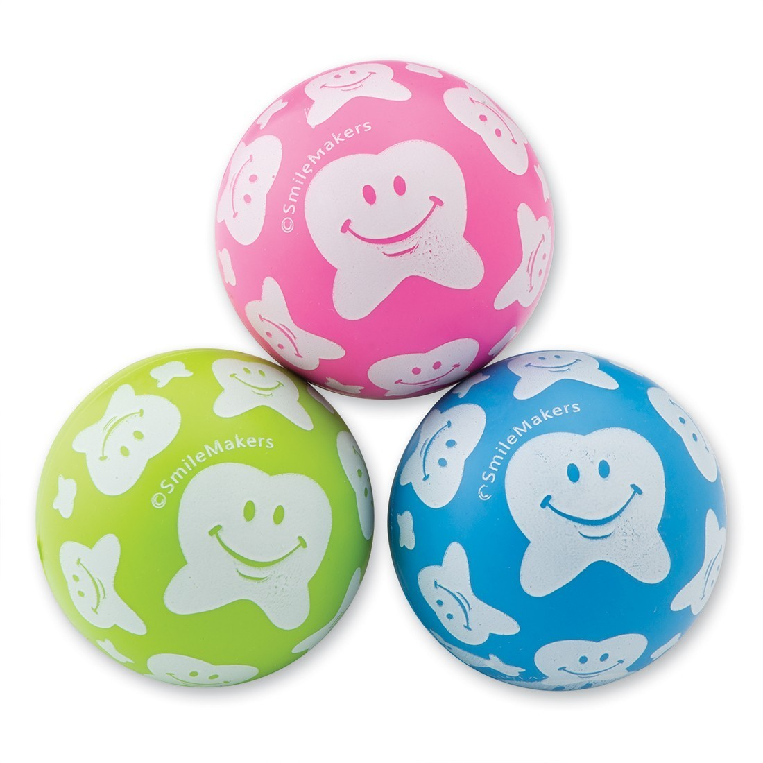 30mm Happy Tooth Scatter Print Bouncing Balls [image]