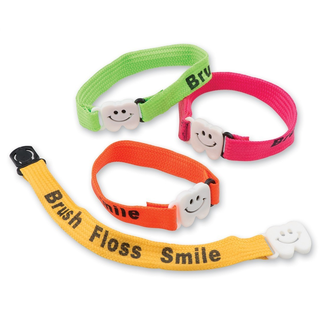 Brush, Floss, Smile Clip Bracelets [image]